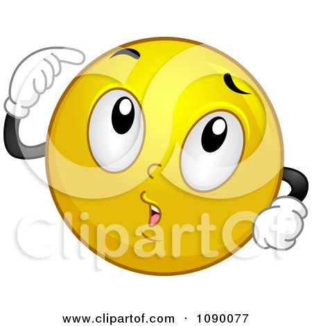 Clipart Smiley Emoticon Thinking - Royalty Free Vector Illustration by BNP Design Studio