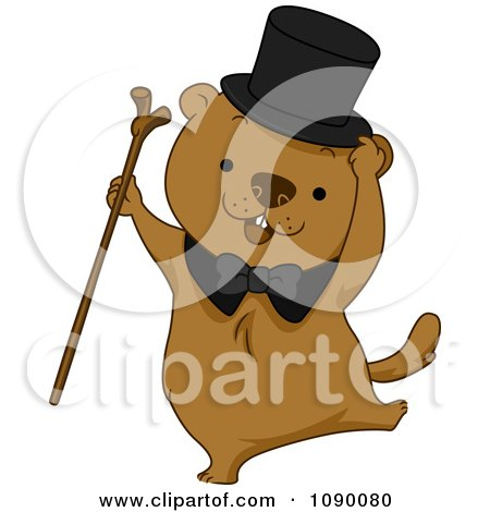 Royalty-Free (RF) Groundhog Clipart, Illustrations, Vector Graphics #1