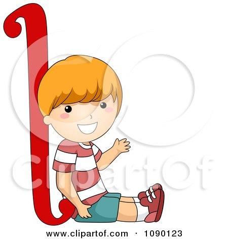 Clipart Letter L Boy Child - Royalty Free Vector Illustration by BNP Design Studio