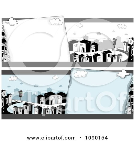 Clipart Urban City Banners - Royalty Free Vector Illustration by BNP Design Studio