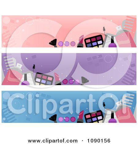 Clipart Cosmetic Makeup Website Banners - Royalty Free Vector Illustration by BNP Design Studio