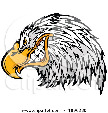 Clipart Grinning Bald Eagle Mascot - Royalty Free Vector Illustration by Chromaco
