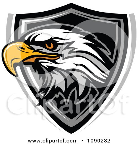 Clipart Bald Eagle Mascot Badge - Royalty Free Vector Illustration by Chromaco