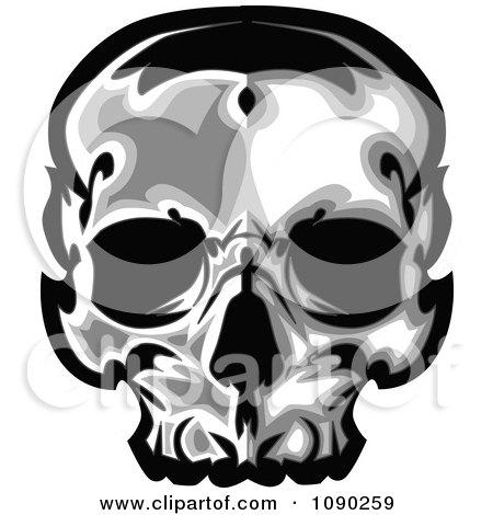 Clipart Dark Human Skull - Royalty Free Vector Illustration by Chromaco