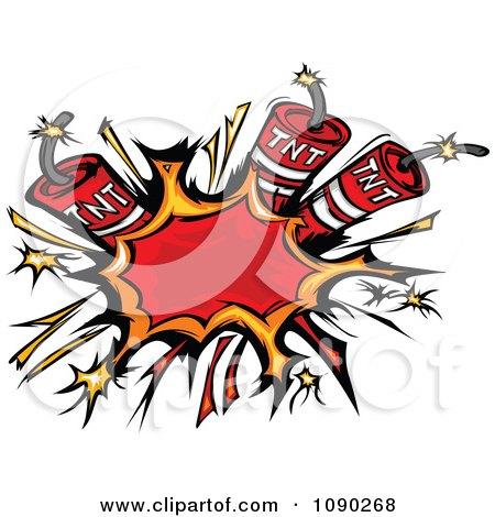 Clipart Burst Of Dynamite Explosives - Royalty Free Vector Illustration by Chromaco