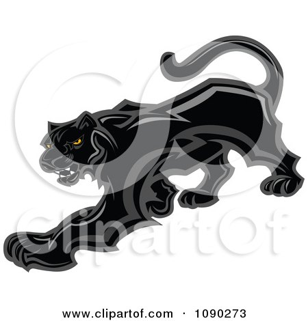 RoyaltyFree RF Panther Clipart