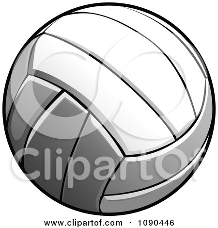Clipart Flying Volleyball - Royalty Free Vector Illustration by Chromaco