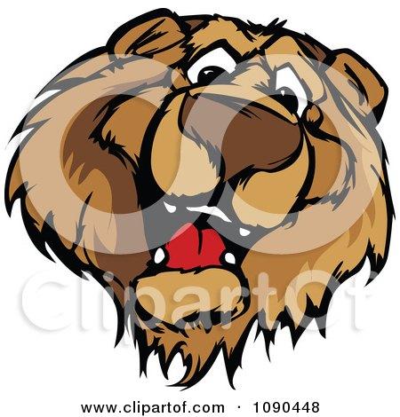 Clipart Friendly Bear Mascot Face - Royalty Free Vector Illustration by Chromaco