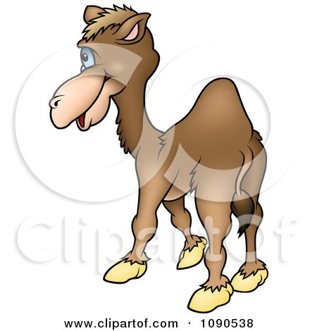 Clipart Camel Facing Away - Royalty Free Vector Illustration by dero