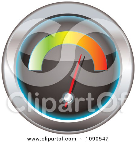 Clipart 3d Speedometer With A Colorful Bar - Royalty Free Vector Illustration by michaeltravers