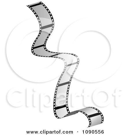 Clipart Gray Falling Film Strip - Royalty Free Vector Illustration by michaeltravers
