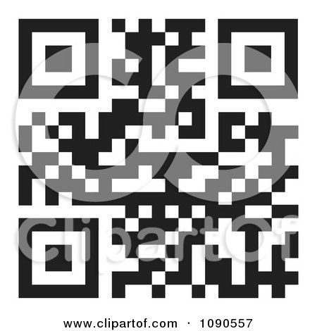 Clipart Black And White QR Code - Royalty Free Vector Illustration by michaeltravers