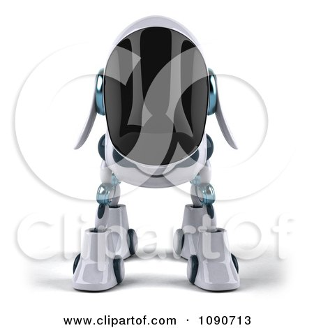 Clipart 3d Robotic Dog Facing Front - Royalty Free CGI Illustration by Julos