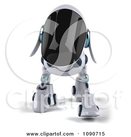 Clipart 3d Robotic Dog Walking Forward - Royalty Free CGI Illustration by Julos