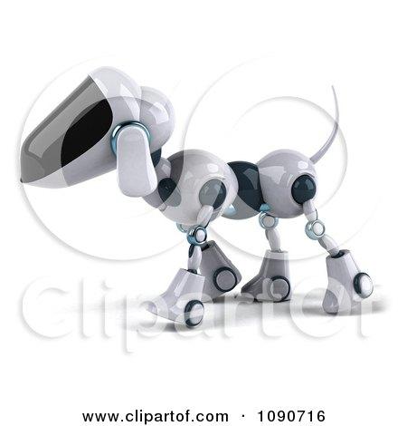 Clipart 3d Robotic Dog Walking Left - Royalty Free CGI Illustration by Julos