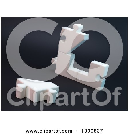 Clipart 3d Broken Or Unassembled Puzzle House - Royalty Free CGI Illustration by Mopic