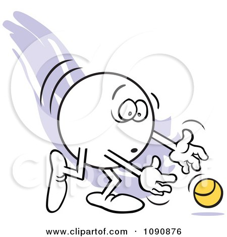 Clipart Moodie Character Dropping The Ball - Royalty Free Vector Illustration by Johnny Sajem