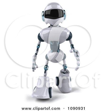 Clipart 3d Techno Robot Walking 1 - Royalty Free CGI Illustration by Julos