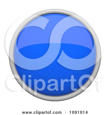 Clipart 3d Shiny Blue Circular Icon Button - Royalty Free CGI Illustration by Leo Blanchette