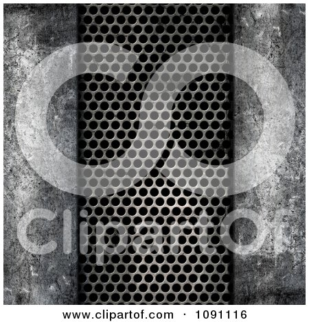 Clipart 3d Grungy Megal Concrete And Mesh Metal - Royalty Free CGI Illustration by KJ Pargeter
