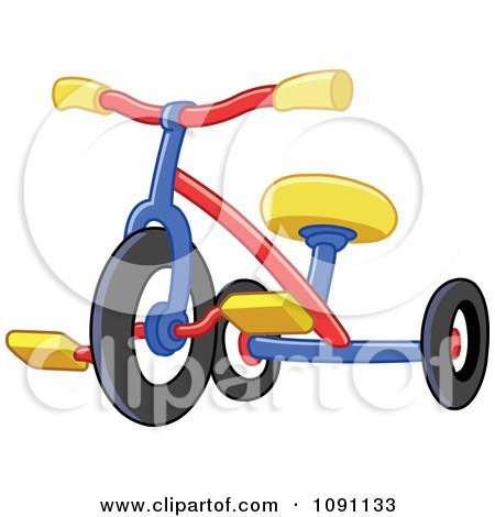 Clipart Colorful Tricycle - Royalty Free Vector Illustration by yayayoyo
