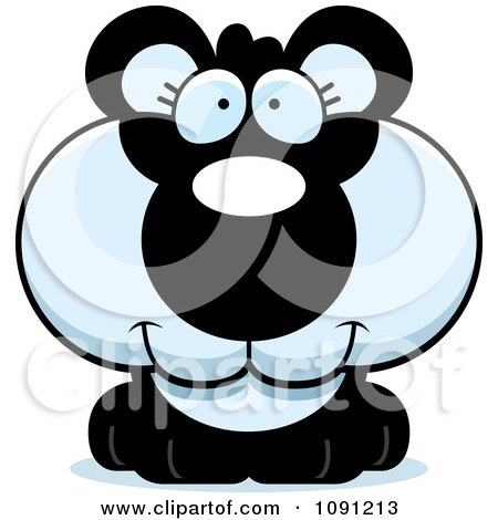 Clipart Cute Panda - Royalty Free Vector Illustration by Cory Thoman