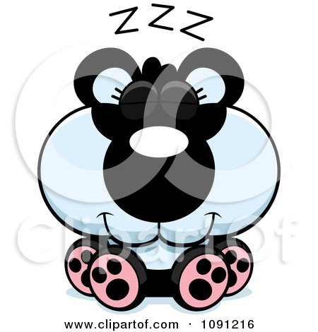Clipart Cute Sleeping Panda - Royalty Free Vector Illustration by Cory Thoman