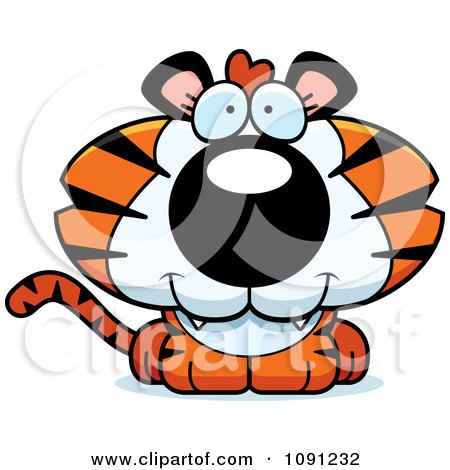 Clipart Cute Tiger - Royalty Free Vector Illustration by Cory Thoman