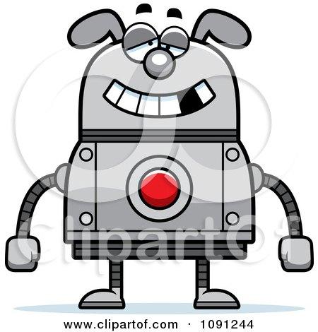 Clipart Dumb Dog Robot - Royalty Free Vector Illustration by Cory Thoman