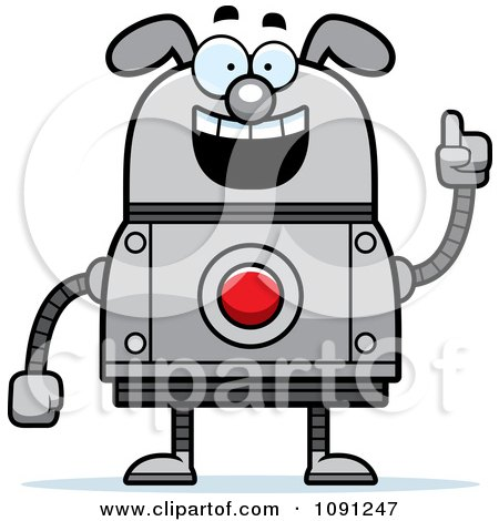 Clipart Smart Dog Robot - Royalty Free Vector Illustration by Cory Thoman
