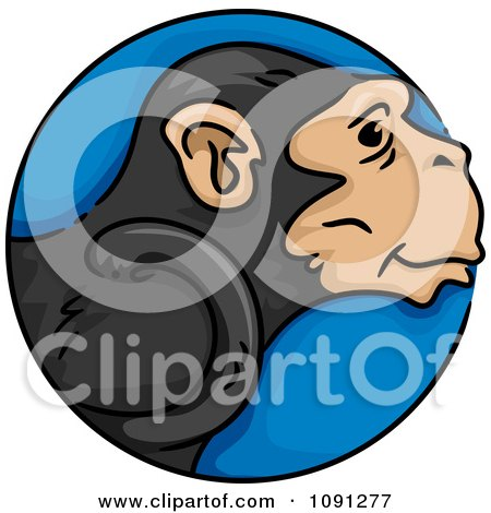 Clipart Year Of The Monkey Chinese Zodiac Circle - Royalty Free Vector Illustration by BNP Design Studio