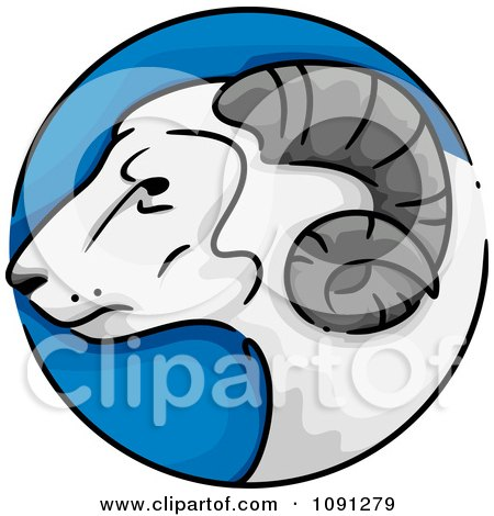 Clipart Year Of The Goat Chinese Zodiac Circle - Royalty Free Vector Illustration by BNP Design Studio
