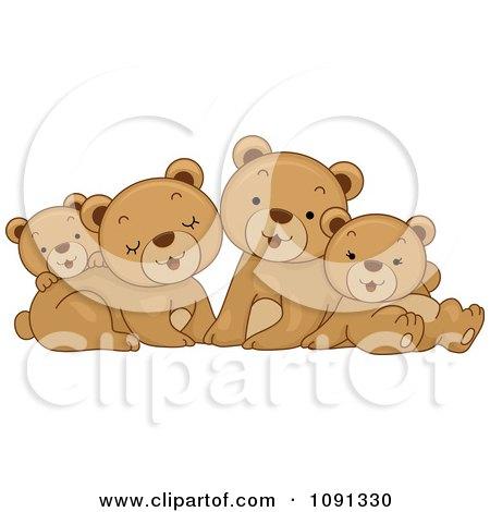 Clipart Cute Bear Family - Royalty Free Vector Illustration by BNP Design Studio