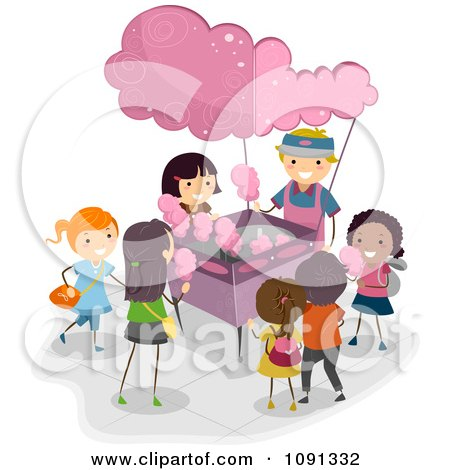Royalty-Free (RF) Cotton Candy Clipart, Illustrations, Vector ...
