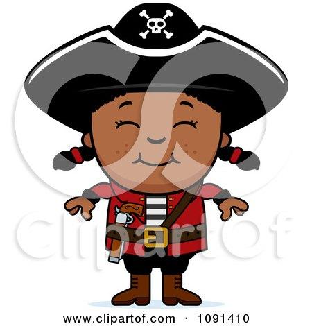 Happy Black Pirate Girl Posters, Art Prints