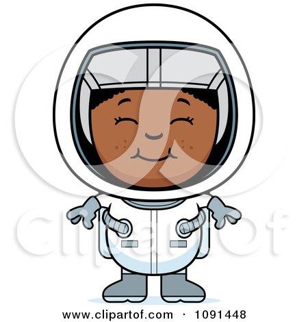 Happy Black Astronaut Girl Posters, Art Prints