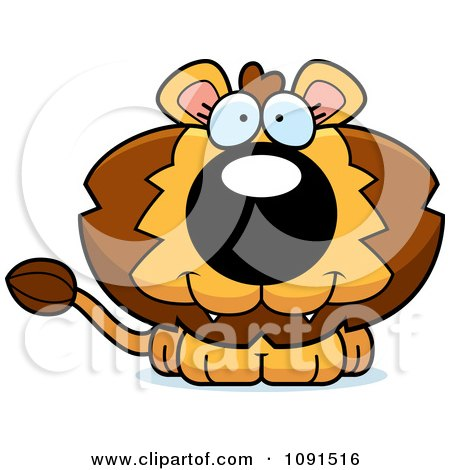 Clipart Cute Lion - Royalty Free Vector Illustration by Cory Thoman
