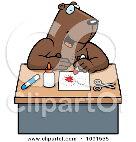 Clipart Arts And Crafts Gopher - Royalty Free Vector Illustration by Cory Thoman