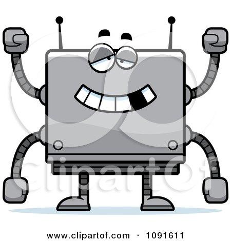 Clipart Dumb Box Robot - Royalty Free Vector Illustration by Cory Thoman