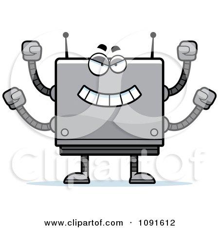 Clipart Bully Box Robot - Royalty Free Vector Illustration by Cory Thoman