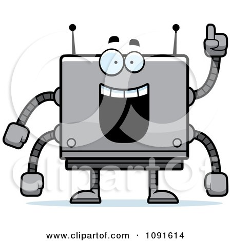 Clipart Smart Box Robot - Royalty Free Vector Illustration by Cory Thoman