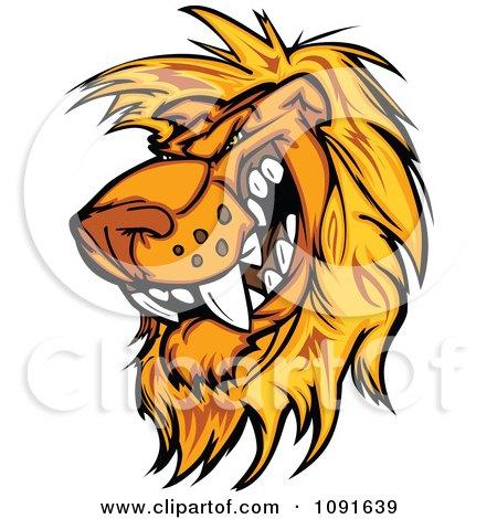 ... bears text over aggressive bear head royalty ... Golden Lion Clipart