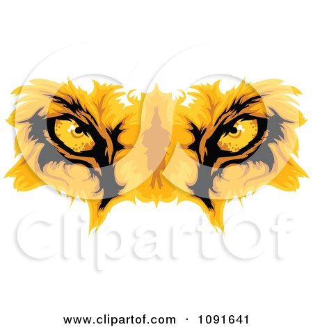Clipart Golden Lion Eyes - Royalty Free Vector Illustration by Chromaco