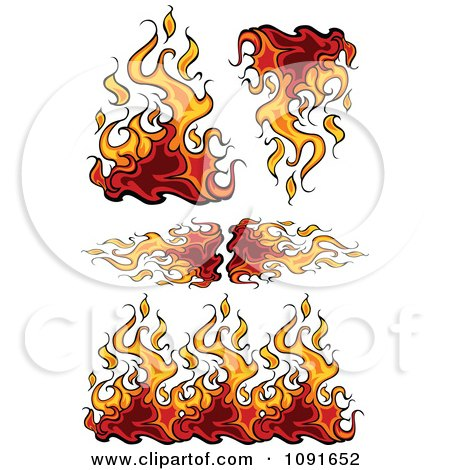 Royalty Free Stock Illustrations of Flames by Chromaco Page 1