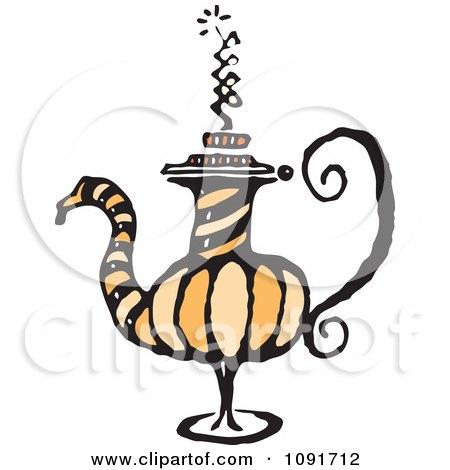 Clipart Fancy Tea Pot - Royalty Free Vector Illustration by Steve Klinkel