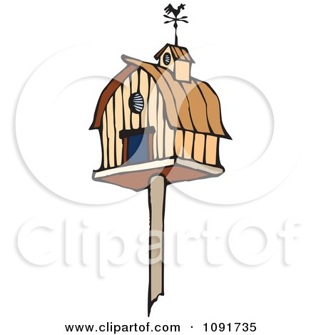 Clipart Barn Bird House - Royalty Free Vector Illustration by Steve Klinkel