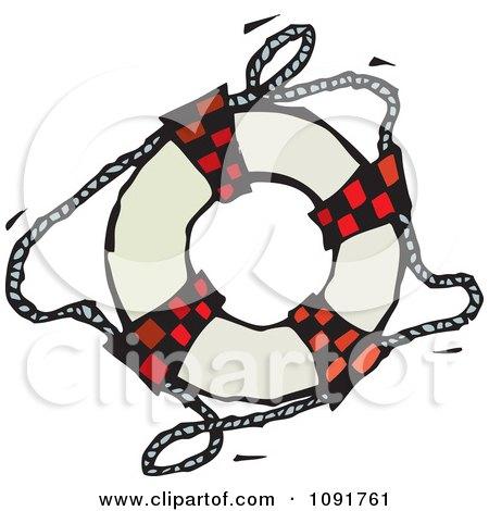 Clipart Life Buoy Ring - Royalty Free Vector Illustration by Steve Klinkel