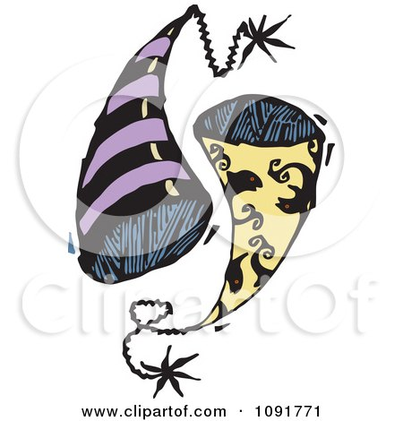 Clipart Pisces Party Hats - Royalty Free Vector Illustration by Steve Klinkel