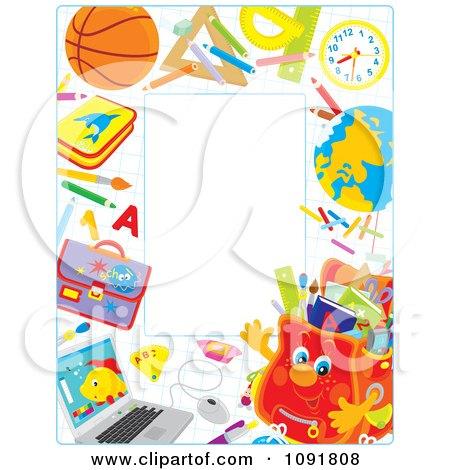 Waving Backpack Full Of Supplies Posters, Art Prints