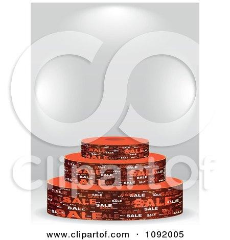 Clipart 3d Brown Sale Podium Under Copyspace - Royalty Free Vector Illustration by Andrei Marincas